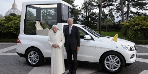 Mercedes-Benz M-Class Popemobile delivered to the Vatican