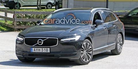 2020 Volvo V90 facelift spied