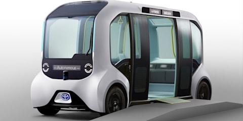 Toyota e-Palette autonomous shuttle for Tokyo Olympics unveiled