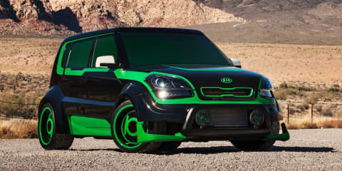Kia Justice League super hero cars unveiled at 2012 SEMA show