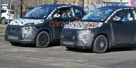 2021 Fiat 500e electric car caught on camera