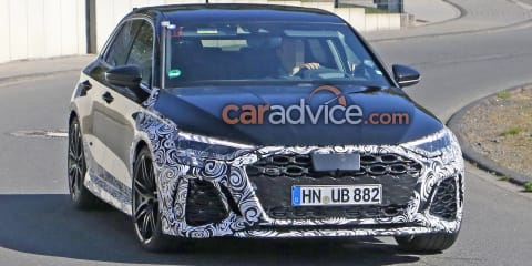 Audi RS3 spy photos, current model returns to showrooms next month