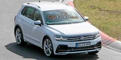 2021 Volkswagen Tiguan R spied during Nurburgring testing