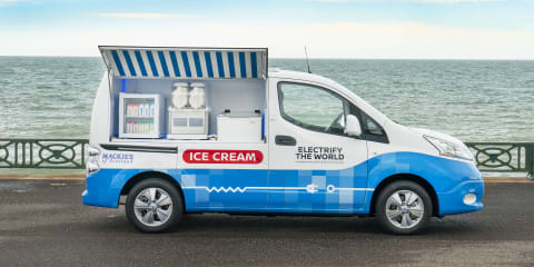 Nissan e-NV200 ice cream van concept unveiled