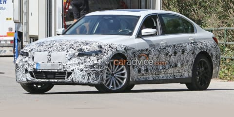 Electric BMW 3 Series spied in testing