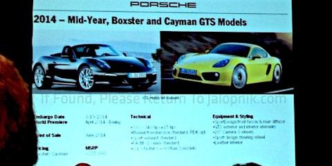 Porsche Boxster/Cayman GTS, 911 Targa, Macan details leaked