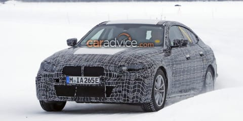 2021 BMW i4 spied in the snow