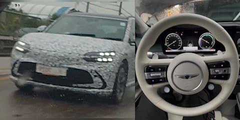 2022 Genesis GV60 interior leaked, exterior spied in minimal camouflage
