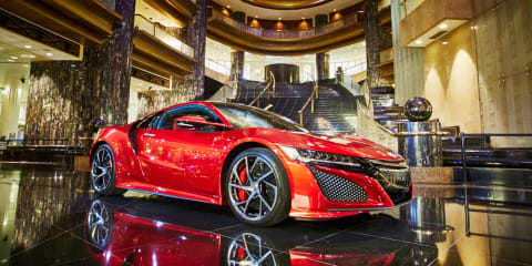 2017 Honda NSX driven through food court
