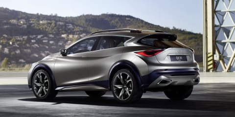 Infiniti QX30 Concept teaser reveals rear of new baby SUV