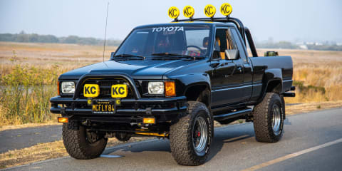 Check out that 4x4! Back to The Future Toyota Hilux tribute for sale. UPDATE: Sold and coming to Aus!