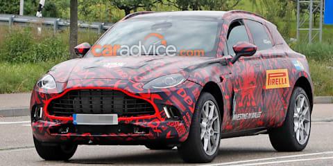 2020 Aston Martin DBX spied again