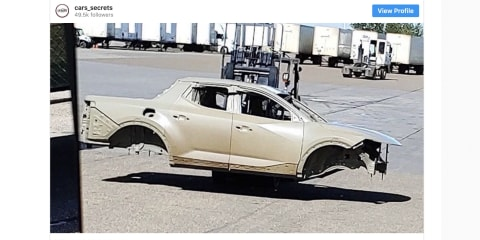New Hyundai ute spotted in bare metal