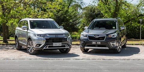 2020 Mitsubishi Outlander v Subaru Forester comparison