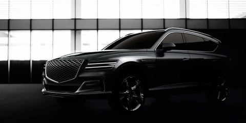 2020 Genesis GV80 design showcased in shadowy new images