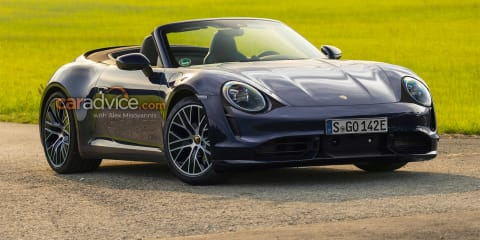 All-electric Porsche 911E rendered