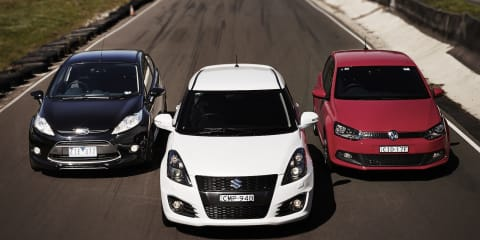 Sports hatch track test: Ford Fiesta Metal v Suzuki Swift Sport v Volkswagen Polo GTI