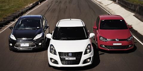 Sports hatch track test: Ford Fiesta Metal v Suzuki Swift Sport v Volkswagen Polo GTI