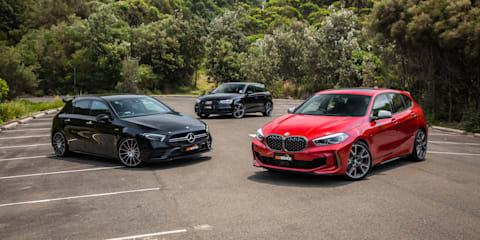 2020 BMW M135i xDrive v Mercedes-AMG A35 v Audi S3 comparison