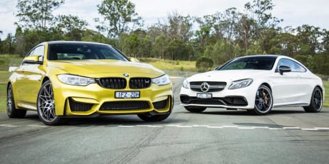 2016 BMW M4 Competition v Mercedes-AMG C63 S Track Test