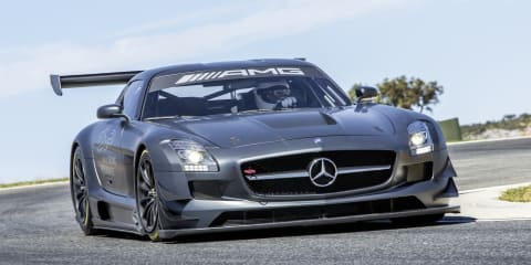 Mercedes-Benz SLS AMG GT3 45th Anniversary edition race car launched