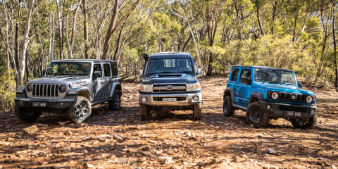 REVISIT: 2019 Jeep Wrangler Rubicon v Toyota LandCruiser v Suzuki Jimny off-road comparison