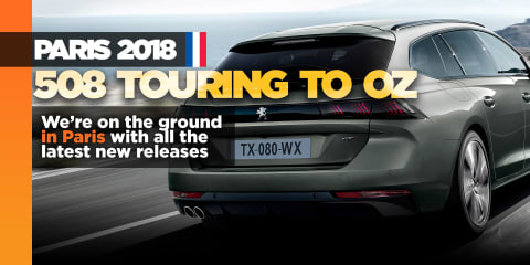 Peugeot 508 Touring in Paris, and soon in Australia