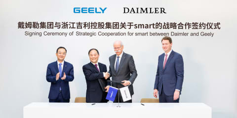 Geely buys 50 per cent of Smart