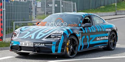 2020 Porsche Taycan spied again