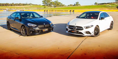 2020 BMW M235i Gran Coupe v Mercedes-AMG A35 sedan comparison review