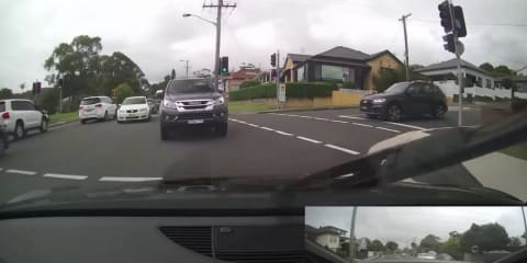 Reckless and dangerous Audi R8 joyride captured by dashcam footage