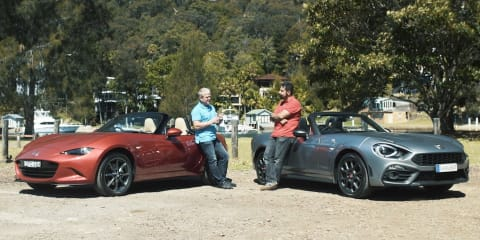 Abarth 124 Spider v Mazda MX-5 comparison