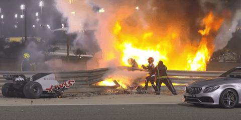 Formula One's Romain Grosjean escapes fiery crash during Bahrain Grand Prix