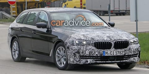 2021 BMW 5 Series facelift spied with less camouflage