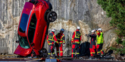 Video: Volvo drops its cars from a crane to simulate 'extreme crashes'