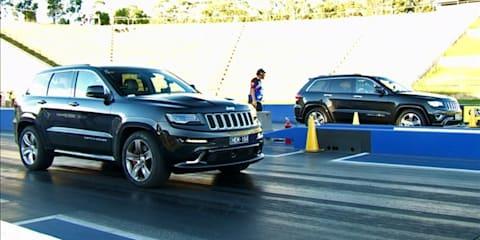 Jeep Grand Cherokee SRT vs Jeep Grand Cherokee Overland: Dragway Face-Off.