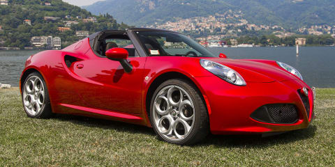 2015 Alfa Romeo 4C Spider Review : Lake Como, Italy