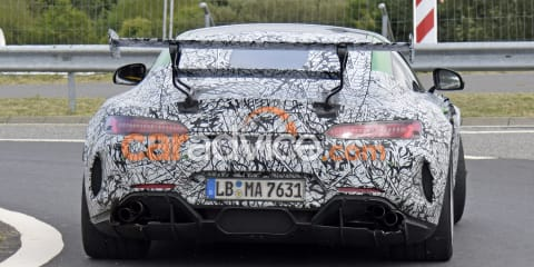 2020 Mercedes-AMG GT R Black Series spied with massive rear wing