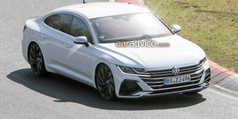 2021 Volkswagen Arteon R spied on the Nurburgring