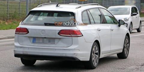 2021 Volkswagen Golf wagon spy photos
