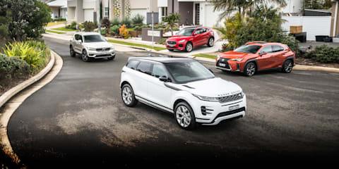 2019 Range Rover Evoque v Jaguar E-Pace v Lexus UX v Volvo XC40 comparison