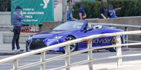 2020 Lexus LC Convertible spied
