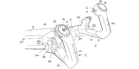 """Autonomous car joystick """"steering handle"""" patented by BMW"""