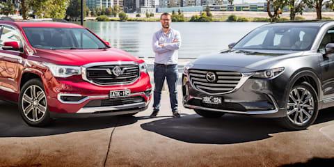 2019 Mazda CX-9 Azami v Holden Acadia LTZ-V comparison