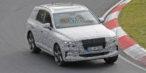 Genesis GV80 spied, powertrain details revealed