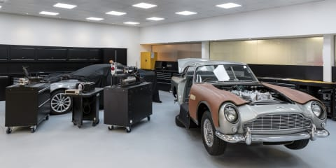 Aston Martin Goldfinger DB5 continuation gets functioning gadgets