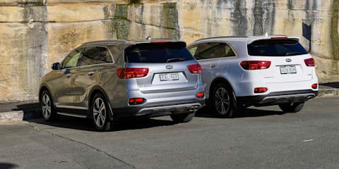 Kia Sorento GT-Line V6 petrol FWD v Kia Sorento GT-Line diesel AWD comparison
