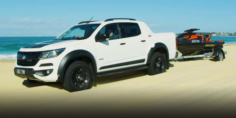 A road trip to Blacksmiths Beach in a 2020 Holden Colorado Z71