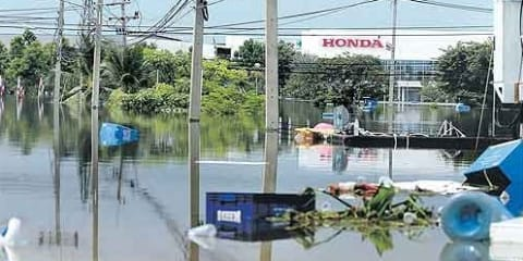 Honda production affected by floods in Thailand