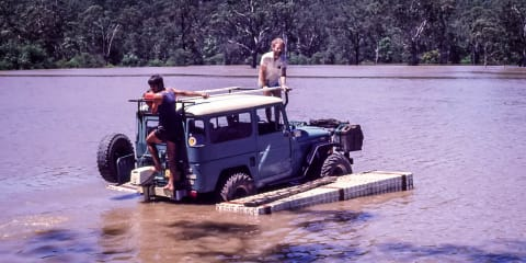 The legend of two LandCruisers and a home-made float